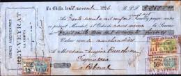 Cheque Vignes Americaines-( Rey-Veyrat)- Algerie -Chiffa - Cheques & Traverler's Cheques