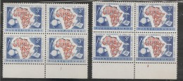 """RUANDA URUNDI  217/18 Bloc 4 PL1 & PL4 : CURIOSITE Sur PL1: T2:  """"RUANDA*  """" Avec Gros Point  MNH NSCH - Ruanda-Urundi"""