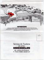 """Envelloppe Publicitaire """" Michelin """" Pour Commande Du Guide Michelin Rouge - Publicités"""