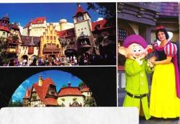 USA, Orlando, Walt Disney World, Snow White and Dopey, 1997 used Postcard [14493]