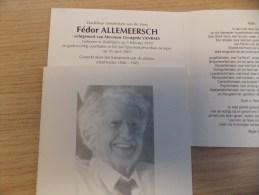 Doodsprentje Fédor Allemeersch Zedelgem 3/2/1920 Ieper 16/4/2003 ( Georgette Vanraes ) - Religion & Esotérisme