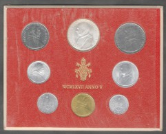 1967/V Vatican City 8-Coin Mint Set Unc Pope Paul VI CITTA DEL VATICANO - Vaticano