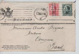 TP Alphonse XIII Surchargé Republica Espagnola(1) C.méc.Barcelona V.Gand Belgium PR1420 - 1931-Aujourd'hui: II. République - ....Juan Carlos I