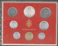 1971/IX Vatican City 8-Coin Mint Set Unc Pope Paul VI CITTA DEL VATICANO - Vaticano