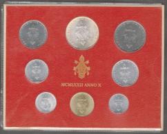 1972/X Vatican City 8-Coin Mint Set Unc Pope Paul VI CITTA DEL VATICANO - Vaticano