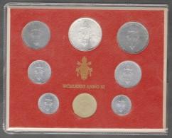 1973/XI Vatican City 8-Coin Mint Set Unc Pope Paul VI CITTA DEL VATICANO - Vaticano