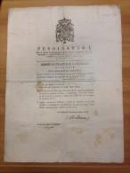 REGNO DI NAPOLI 1830 Amministrazione Generale Delle Poste Cammino Da Napoli Per Reggio E Ritorno - Decrees & Laws