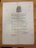 REGNO DI NAPOLI 1820 Amministrazione Generale Delle Poste Cammino Da Napoli Per Reggio E Ritorno - Decrees & Laws