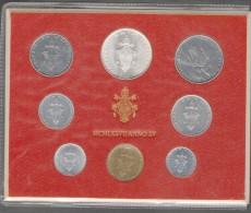 1977/XV Vatican City 8-Coin Mint Set Unc Pope Paul VI CITTA DEL VATICANO - Vaticano