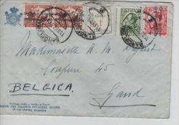 TP Alphonse XIII S/L.surchargé Republica Espagnola(3)+2TP C.Barcelona V.Gand Belgium PR1425 - 1931-Today: 2nd Rep - ... Juan Carlos I