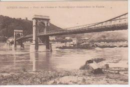 CPA 69 GIVORS - Pont De Chasse Et Remorqueur Descendant Le Rhône - Givors