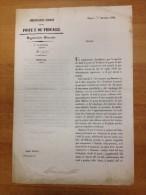 """REGNO DI NAPOLI 1859 Amministrazione Generali Delle Poste E Dè Procacci """"Circolare"""" Regolamento Per La Vendita Di Franco - Decrees & Laws"""