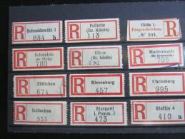 Einschreibzettel  ,12   Stück  Pommern - Pommern