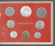 1975/IVB ANNO SANTO Vatican City 8-Coin Mint Set Unc Pope Paul VI CITTA DEL VATICANO - Vaticano
