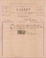 Gironde, Bordeaux, ébénisterie Tapisserie A. Jarry Successeur De Mme Bard 1894 - 1800 – 1899