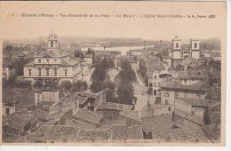 CPA 69 GIVORS -Vue D'ensemble De La Place - La Mairie - L ' Eglise Saint Nicolas - Givors