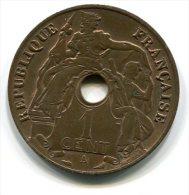 INDO-CHINE  FRANCAISE  1920  1 CENT - Monnaies