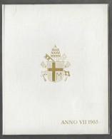 1985 ANNO VII Vatican City 7-Coin Mint Set Unc Pope Ioannes Paulus II CITTA DEL VATICANO - Vaticano
