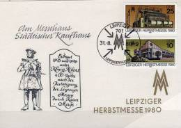 Souvenir Herbstmesse 1980 DDR 2539/0 Messe-Gedenkblatt SST 5€ Leipzig-Information Teppich-Maschine Fair Card Of Germany - Marchés