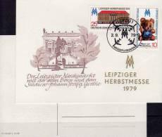 Souvenir Der Herbstmesse 1979 DDR 2452/3 Messe-Gedenkblatt SST 5€ DV Teddy Haus Blumenberg Leipzig Fair Card Bf Germany - Marchés
