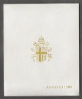 1989 ANNO XI Vatican City 7-Coin Mint Set Unc Pope Ioannes Paulus II CITTA DEL VATICANO - Vaticano