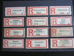 Einschreibzettel  ,  12   Stück  Pommern