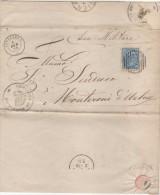 0247 - CINIGIANO Affrancata 10 Cent Annullo Numerale A Sbarre -2781- E Doppio Cerchio - 1878-00 Umberto I