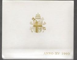 1993 ANNO XV Vatican City 7-Coin Mint Set Unc Pope Ioannes Paulus II CITTA DEL VATICANO - Vaticano