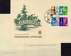 Souvenir Der Herbstmesse 1973 DDR 1872/3 Auf Messe-Gedenkblatt SST 5€ Segel-Boot EXPOVITA Leipzig Fair Card Of Germany - Marchés