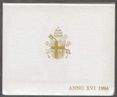1994 ANNO XVI Vatican City 7 -Coin Mint Set Unc Pope Ioannes Paulus II CITTA DEL VATICANO - Vaticano