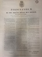 REGNO DI NAPOLI 1857 Decreto Di Emissione Dei Francobolli Di Napoli E Tariffe Applicate, Pubblicato In Napoli Il 14 Lugl - Decrees & Laws