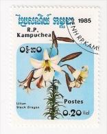 REPUBBLICA KAMPUCHEA 1985 FIORI USATO - Kampuchea