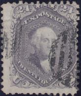 USA 1861 24Cent Grau Mi#23 Gestempelt - Oblitérés