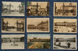54 - Nancy - Lot 18 Cartes Toutes Scannées :Place Stanislas, Hôtel De Ville, Grilles De Jean Lamour, Statue De Stanislas - Postcards
