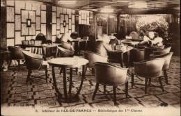 BIBLIOTHEQUES - Livres - Intérieur De L'Ile De France - Bateau - 1ère Classe - Bibliothèques