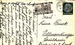 AK  - Postkarte Werbestempel Reichsfestpiele Heidelberg 1939 - Cartas
