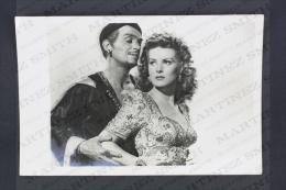 Original Vintage Press Real Photography Cinema/ Movie Scene 1947: Sinbad The Sailor - Maureen O´Hara & Douglas Fairb - Personalidades Famosas