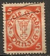 Timbres - Allemagne - Etranger - Dantzig - 1924 - 5 Pf. -