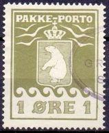 Groenland 1915-33 1öre Pakkeporto Tanding 14¼ GB-USED - Used Stamps