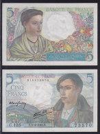 Billet - FRANCE -  5 FRANCS BERGER  K.5=4=1945 C.125 - UNC -  Jamais Utilisé . NEUF - 1871-1952 Circulated During XXth