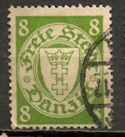 Timbres - Allemagne - Etranger - Dantzig - 1924 - 8 Pf. -