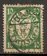Timbres - Allemagne - Etranger - Dantzig - 1924 - 10 Pf. -