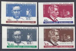 RWANDA - 1966 -   SERIE NON DENTELEE N° 134 à 137 -  XX - MNH - COTE : 25.00 €  - - Rwanda