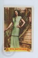 Old Trading Card/ Chromo Topic/ Theme Cinema/ Movie - Actress: Rita Hayworth - Chocolate