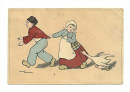 Ethel Parkinson, 2 Enfants Avec Une Oie - Parkinson, Ethel