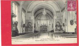 BOISSY MAUGIS 1934 INTERIEUR DE L EGLISE CARTE EN BON ETAT - Francia