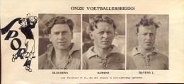 Voetbal Spelers FC Turnhout - Bleukens - Kupens - Baeyens    - Foto Uit Magazine 1931 - Unclassified