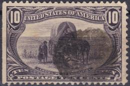 USA 1898 10Cent Grau-schwarz-violett Eilmarke Zu#122 Gestempelt - Oblitérés