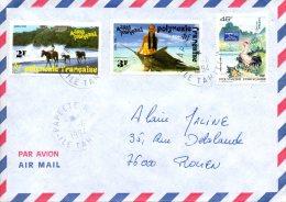 POLYNESIE. Belle Enveloppe Ayant Circulé En 1994. Cheval/Poisson/Année Du Coq/Taipei´93. - Polinesia Francesa