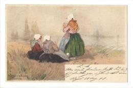 10903 - Scheveningen Hlassiers  Trois Femmes En 1898 - Costumes